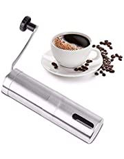 Manual Coffee Grinder - Stainless Steel Coffee Bean Grinder Coffee Maker Hand Crank Mill for Camping Kitchen