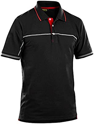 Blaklader 338910509956M Polo Shirt Size M Black//Red