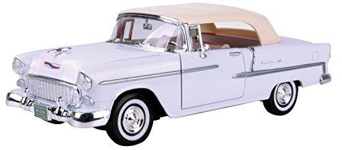 Motormax 1955 Chevy Bel Air Convertible White (no. 73184) (1955 Chevy Bel Air Convertible)
