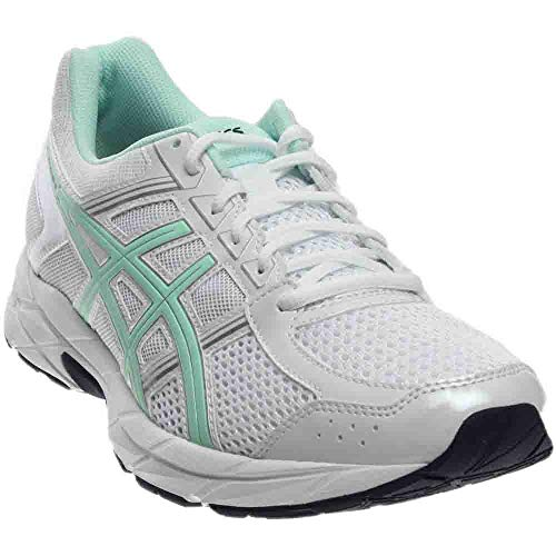 ASICS Women's Gel-Contend 4 Running Shoe, White/Bay/Silver, 5 M US by ASICS (Image #7)
