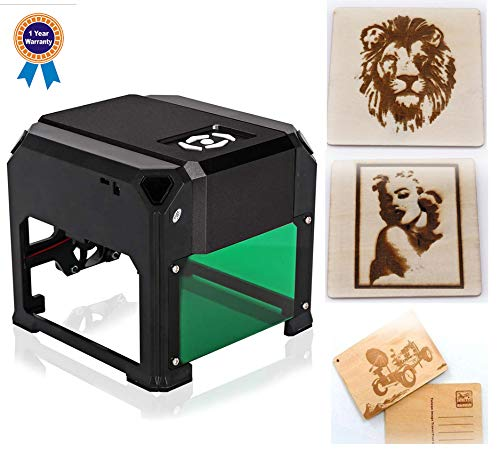 laser engraving machine Laser Engraver Printer 3000mW Mini desktop laser engraver machine DIY Logo laser engraver 7.6X7.6CM ()