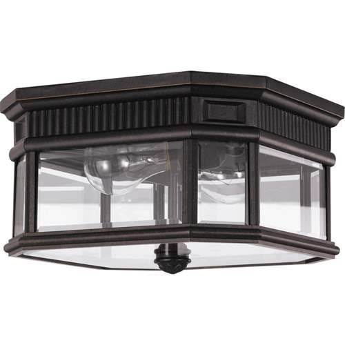Feiss Cotswold Lane Grecian Bronze 2-Light Outdoor Flush Mount Light OL5413GBZ ()