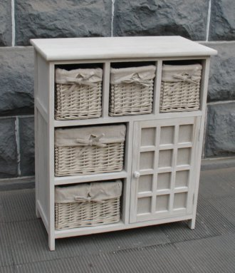 meuble rangement avec panier chiffonnier semainier mobili rebecca meuble de rangement commode. Black Bedroom Furniture Sets. Home Design Ideas