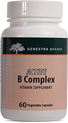 Genestra Brands - Active B Complex - Complete B Vitamin Complex Supplement - 60 Vegetable Capsules