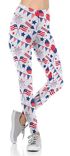 Dasbayla July 4th Womens Clothing American Flag Leggings for Women Plus Size Patriotic Pants