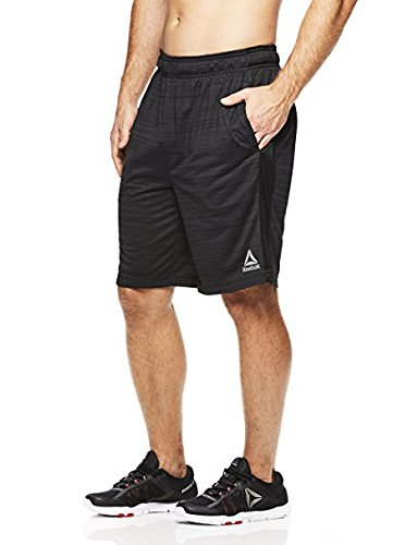 Reebok Men's Drawstring Shorts - Athletic Running & Workout Short - Dark Shade CRUZ Grey, X-Large