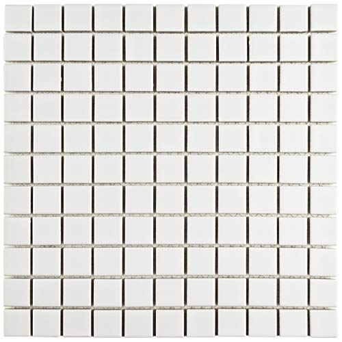 SomerTile FXLM1SMW Retro Square Porcelain Floor and Wall x 11-3/4