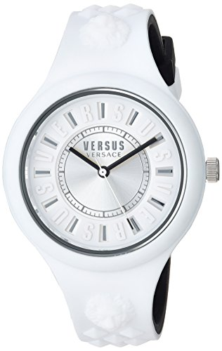 Versus by Versace Women's 'FIRE Island Bicolor' Quartz Stainless Steel and Silicone Watch, Color:Two Tone (Model: VSPOQ2118)