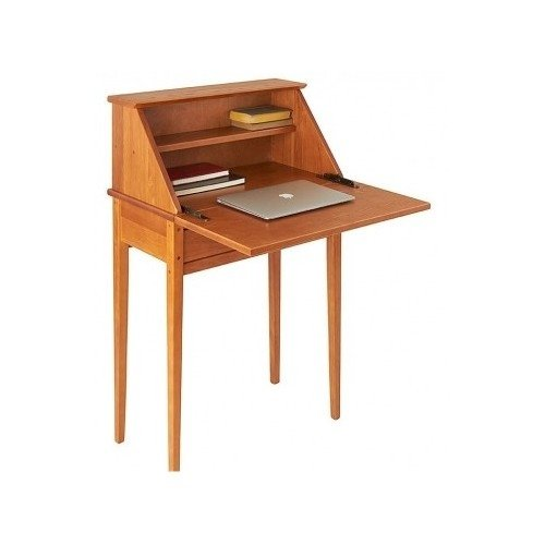 Shaker Writing Table (Real Wood Laptop Writing Desk with Antique Look (Light, Oak))