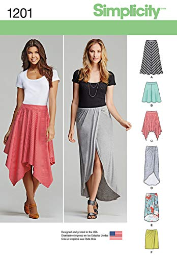 Simplicity 1201 Women's Pull on Skirts Sewing Patterns, Sizes 6-14 ()