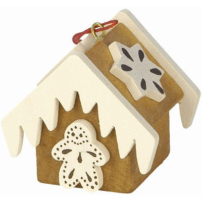 10-0440 - Christian Ulbricht Ornament - Gingerbread House Brown - 1.5