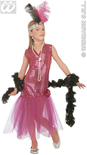 Girls Glamour Brigitte Child Costume Outfit for 20s 30s Dancing Flapper Moll Fancy Dress (Molls Outfit)