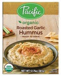 Pacific Foods Organic Hummus, Roasted Garlic, 12.75-Ounce Boxes,(Pack of 12) (Roasted Garlic Hummus)