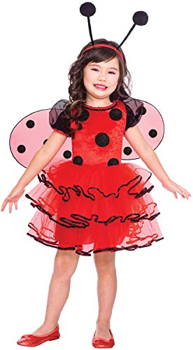 Girls Toddler Ladybird Animal Insect Mini Beast Ladybug World Book Day Week Carnival Fancy Dress Costume Outfit (4-6 years)]()