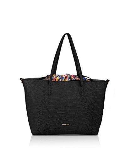 Pomikaki Black Shoulder Bag For Black Women Taglia Unica