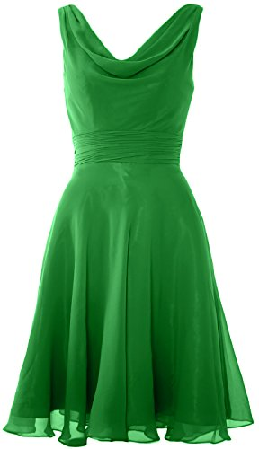 Neck Party Gown Cowl Elegant Wedding Dress Cocktail Green Short MACloth Bridesmaid OTExg1wH