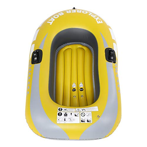 Fsskgx Inflatable Kayak, 1 Person PVC Inflatable Boat Canoe