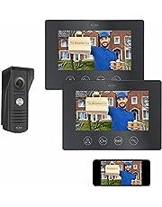 ELRO DV50-P1M2 DV50 IP Wifi Deur Intercom - met 2x 7 inch kleurenscherm - Bekijken en communiceren via App, met 2 monitoren