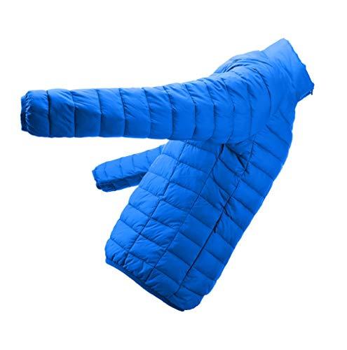 Veste W D'hiver Bleu Fnkdor Long Manche Homme Blouson Chaud Manteau Doudoune Parka FxZ6E