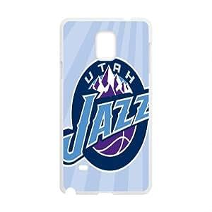Utah Jazz NBA White Phone Case for Samsung Galaxy Note4 Case