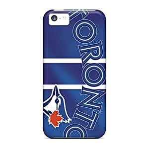 Bumper Hard Cell-phone Case For Iphone 5c (hCC14841EplP) Unique Design Lifelike Toronto Blue Jays Image