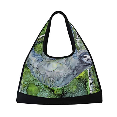 HUVATT Duffel Bags Sloth On Tree Womens Gym Yoga Bag Fun Tote Beach Bag for Men – DiZiSports Store