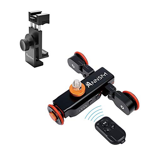 ANNSM Wireless Camera Auto Dolly with Phone Clip with 1/4 inches Screw for Smartphone iPhone Samsung Andiod