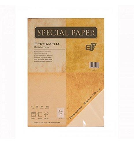 Carta Bapi Pergamena Bianco A4 110 gr. 25 ff BAPI S.n.c.