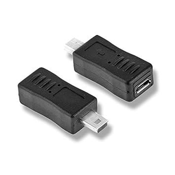3085eb509ed5b Adaptateur Micro USB femelle vers mini USB mâle  Amazon.fr  High-tech