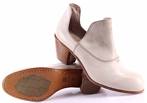 Moma Tacco Nuove 44503 Bianco Italy Scarpe Donna In 1h Albino Made Pelle Vintage nnFg4rx