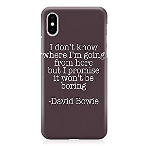 Loud Universe Phone Case For iPhone XS Wrap around Edges Quote Phone Case David Bowie iPhone XS Cover