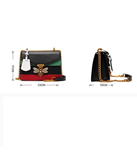 sacs femmes Abeille Tote Bag épaule verrouille pour Satchel Red à Messenger Crossbody les main Designer 5pYwgqp
