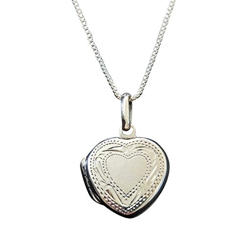 Baby Heart Locket (Sterling Silver tiny Heart Locket on 14