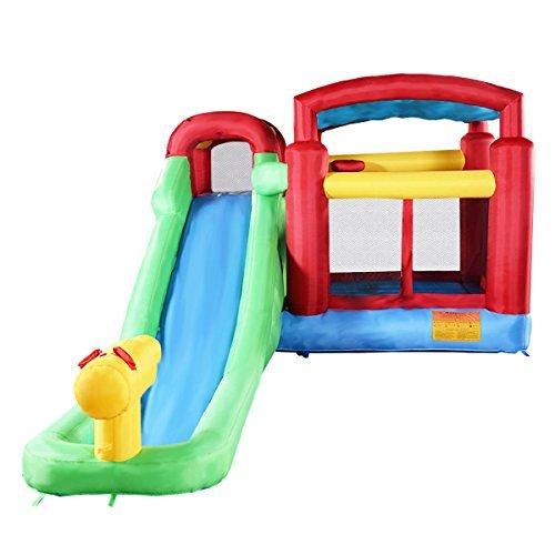 Costzon Inflatable Moonwalk Water Slide Pool Bounce House Ju