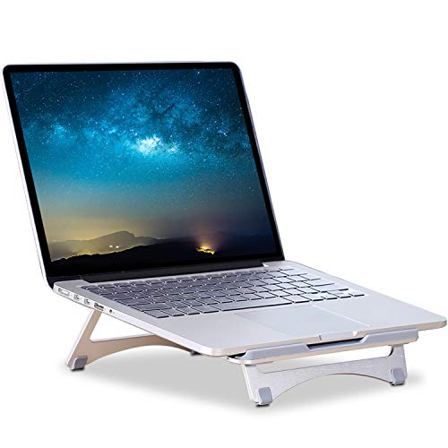 Adjustable Laptop Stand,Portable Notebook Riser,Multifunction Adjustable Desktop Holder,for All 11-15.6 Inch Mac Book,HP,Dell,IBM,iPad Tablet Heat Dissipation Using (Silver).