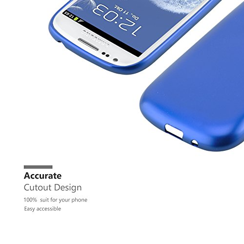 Cadorabo - Cubierta Protectora para >                                              Samsung Galaxy S3 MINI                                              < de Silicona TPU con Efecto Metálico Mate