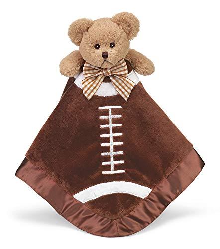 (Bearington Baby Touchdown Snuggler, Football Plush Stuffed Animal Teddy Bear Security Blanket, Lovey 15