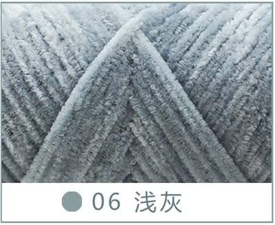 Ovillo de lana de chenilla de 100 g de algodón suave de cachemira para tejer suéter, bufanda de cachemira, 100% algodón grueso, chenilla orgánica, pashmina, bufanda negra, elegante tejido, talla L: Amazon.es: