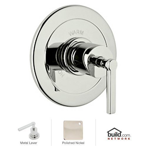 Rohl A6200LMPN A6200Lm Lombardia Shower Valve Trim Only with Metal Lever Handle, Polished Nickel by Rohl