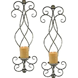 Amazon.com: Aspire Estelle Candle Wall Sconce (Set of 2), Silver: Home & Kitchen