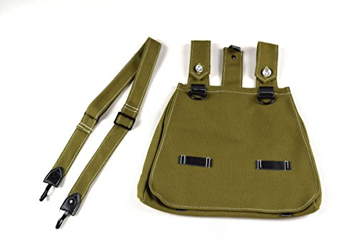 WWII German Military Army Canvas Bread Bag W Shoulder Strap