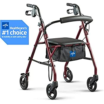 Amazon.com: Drive Medical Aluminum Rollator Walker Fold Up ...