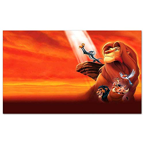 cowspring Anime Posters The Lion King 2019 Pop Art Wall Decor for Home Office Decorations Framed 28x 20 inches