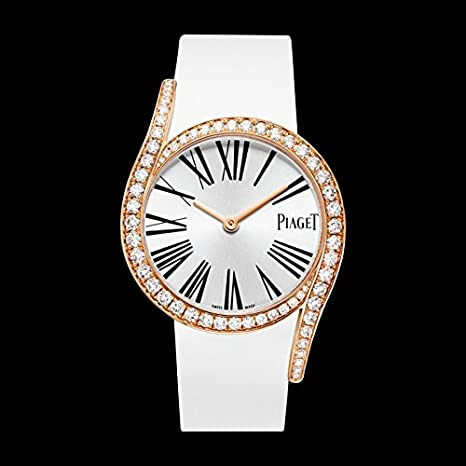 Piaget Candelero Gala 18 kt Rose Oro Diamante Plata Dial Damas Reloj goa39167: Amazon.es: Relojes