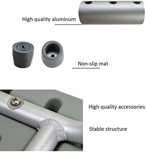 Haushalt rutschfester Duschhocker Duschhocker for Senioren und Behinderte.Aluminiumlegierung und Kunststoff Höhenverstellbarer Duschhocker mit rutschfesten Gummifuß. Kreative multifunktionale Duschhoc