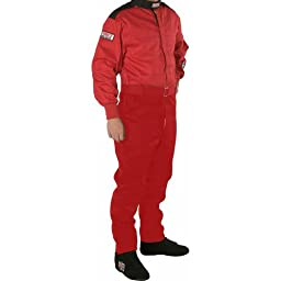 G-Force 4145MEDRD GF145 Racing Suit, Solid Red, Medium