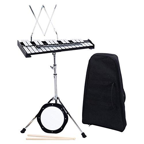 UBRTools Percussion Glockenspiel Bell Kit 30 Notes w/ Practice Pad +Mallets+Sticks+Stand by UBRTools