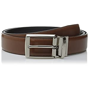 Perry Ellis Men's Portfolio Tan Amigo Belt, Luggage/Black Reversible, 40