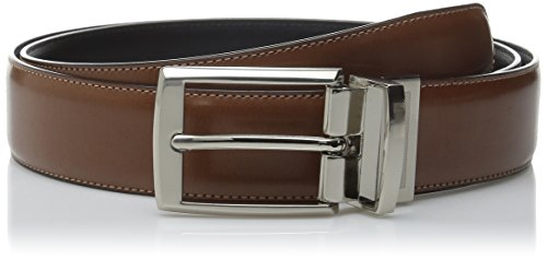 Perry Ellis Men's Portfolio Tan Amigo Belt, Luggage/Black Reversible, - Ellis Perry Belt Brown