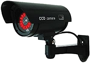 8. UniquExceptional Dummy Fake Security Camera with 30 Illuminating LEDs